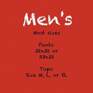 ⬇Men's items listed below⬇